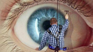 تمیز کردن چشم